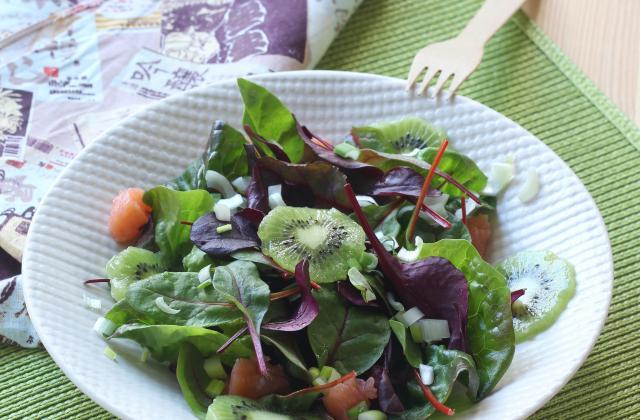 Salade au saumon fumé et kiwi - Photo par Silvia Santucci