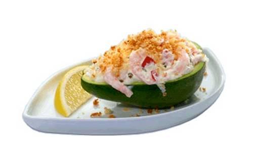 Avocats grillés aux crevettes - Photo par Philadelphia