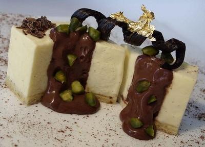 Bavarois cubique vanille-pralin - Photo par BerqueretVincent