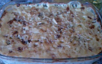 Gratin de pommes de terre avec escalope et champignon - Photo par kari12
