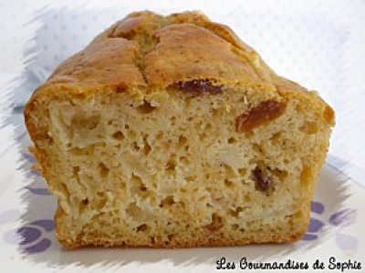 Cake fondant pommes, cannelle et rhum-raisins - Photo par Sophie21