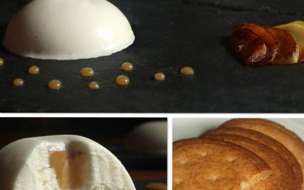 Parfait glacé à la pomme et son cœur fondant caramel au beurre salé - Photo par Marie-Laure du blog : Ça sent beau dans la cuisine