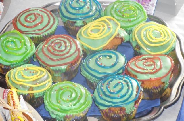 Cupcakes à la mûre trop rigolos - Photo par pepitavignon