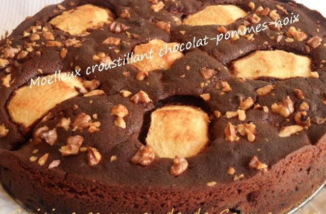 Moelleux croustillant chocolat pommes - Photo par Carmen