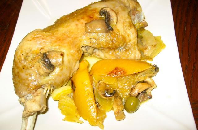 Cuisse de dinde aux citrons confits - Photo par Capipiou
