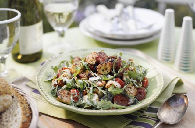 Salade poulet et chorizo - Photo par Amora