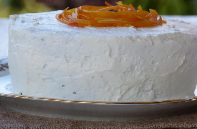 Gâteau potimarron, chocolat et son glaçage au fromage frais - Photo par Invité