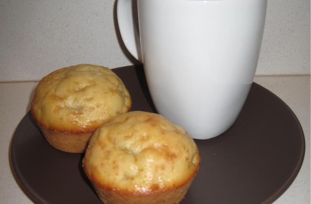 Muffins à la banane, cœur fondant au chocolat - Photo par titauaL