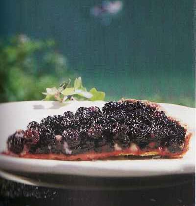 Tarte aux mûres et à la gelée de groseille  - Photo par 750g