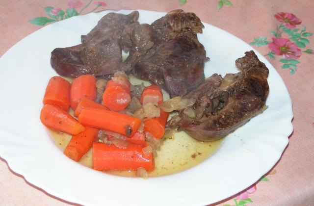 Coeur de porc aux carottes - Photo par kekeli
