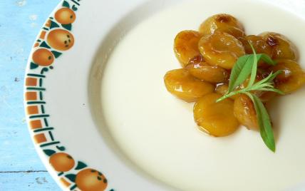Blanc-manger aux amandes et mirabelles - Photo par Chef Damien