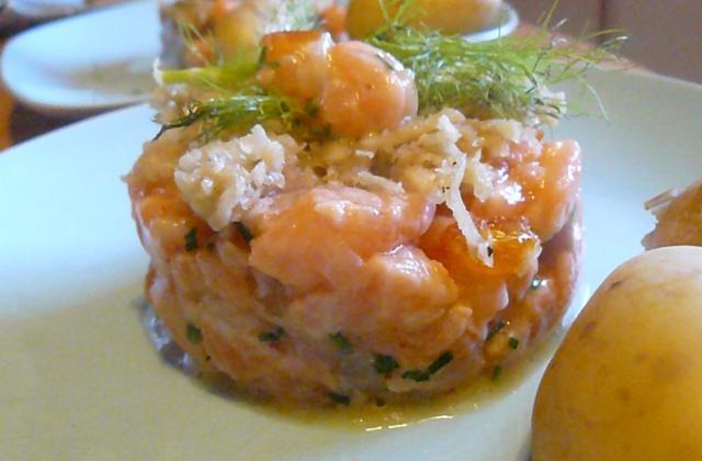 Tartare de saumon aux clémentines confites - Photo par 750g