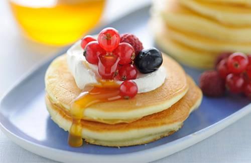 Pancakes aux fruits des bois - Photo par Philadelphia