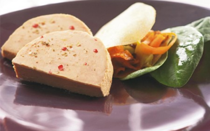Croustillant de Foie Gras aux Légumes - Photo par Labeyrie