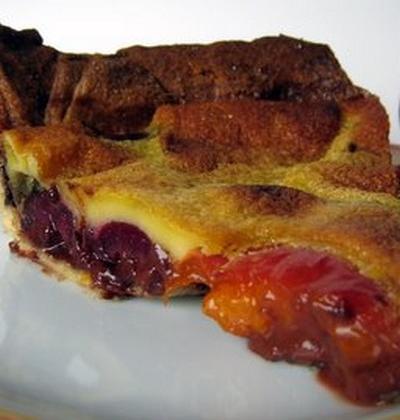 La tarte abricot-cerise au chocolat - Photo par verocag