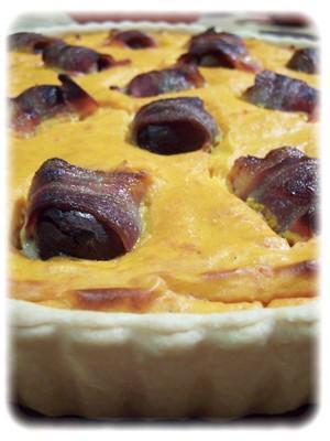 Tarte potimarron & bonbons aux marrons - Photo par allulo
