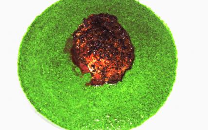 Tournedos de magret au foie gras, poire et purée d'épinard - Photo par Ambiances culinaires