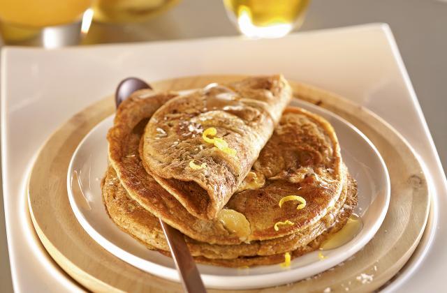 Pancakes banane coco à la farine de petit épeautre - Photo par Bjorg