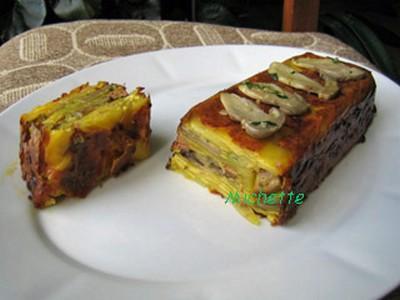 Terrine de pommes de terre, cèpes et foie gras - Photo par baylerC