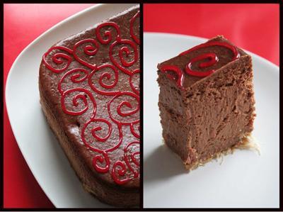 Cheesecake très chic au chocolat et poivron rouge - Photo par loukou