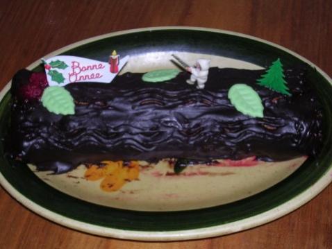 Bûche au chocolat facile à réaliser - Photo par vekasm