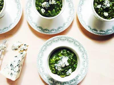 Risotto vert au roquefort - Photo par sophieaSq