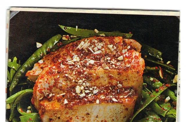 Côte de porc au tandoori et finesse de pois gourmands facile - Photo par aleves