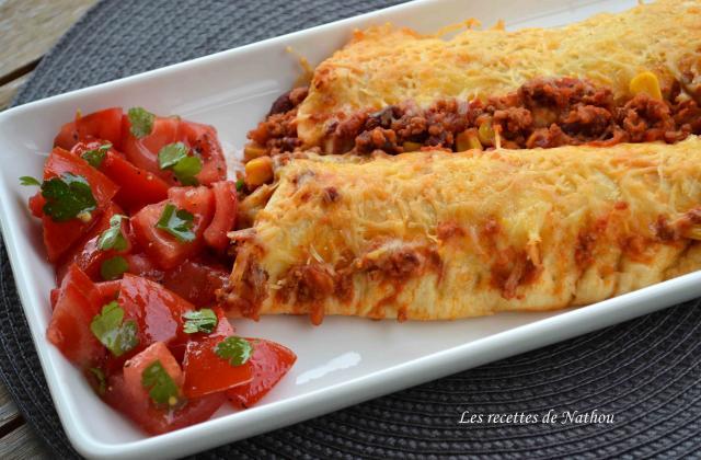 Enchiladas au chili con carne gratinés au cheddar - Photo par Invité