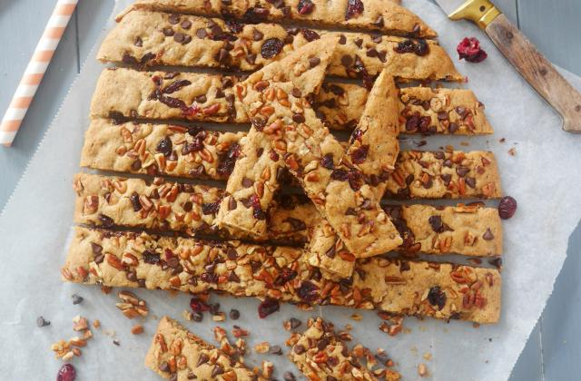 Cookies sticks noix de pécan et cranberries - Photo par Emmanuelle EVRARD