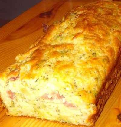 Cake brocoli jambon cru - Photo par lebotsc