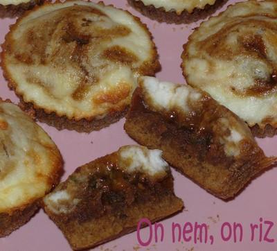 Moelleux façon cheesecake marbré amande-pistache - Photo par paulinc7