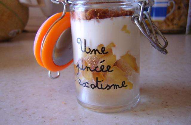 Verrine dessert pomme, miel et spéculoos - Photo par amelie_v