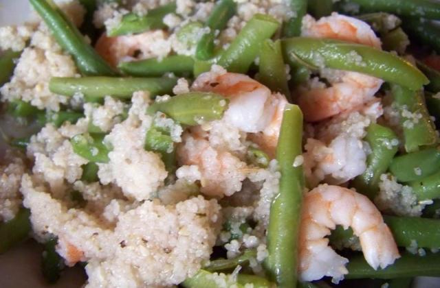 Taboulé de crevettes et haricots verts - Photo par sandiePk