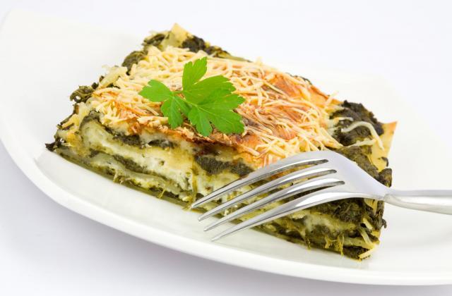Lasagnes aux épinards et deux saumons au fromage à la crème Elle & Vire - Photo par 750g
