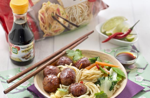 Boulette de porc goût gingembre - Photo par Suzi Wan
