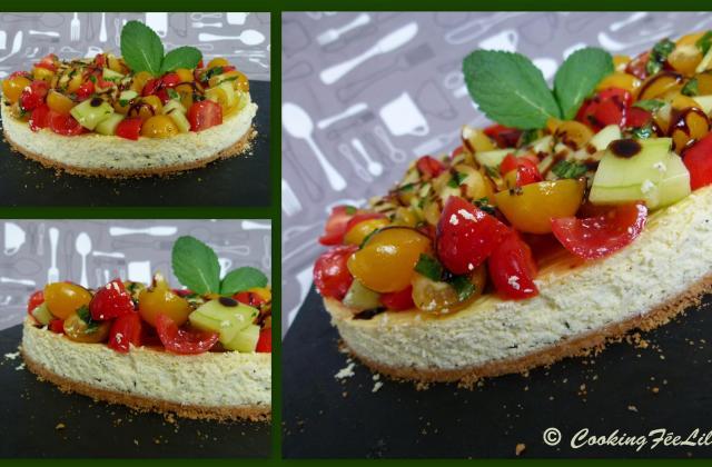 Cheesecake salé au Chavroux et à la menthe - Photo par CookingFeeLili