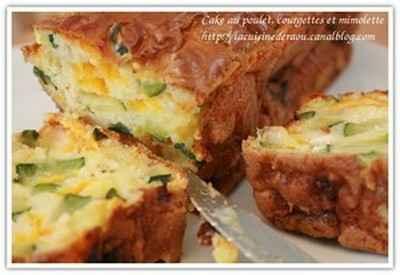 Cake au poulet, à la courgette et à la mimolette - Photo par minervf