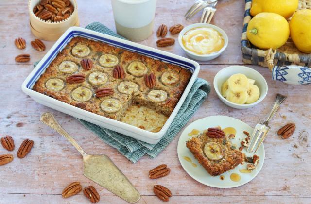 Porridge au four à la banane et noix de pécan - Photo par Silvia Santucci
