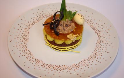 Ma tartelette de Pâques : chocolat, ananas et fruit de la passion - Photo par Sandrine Baumann