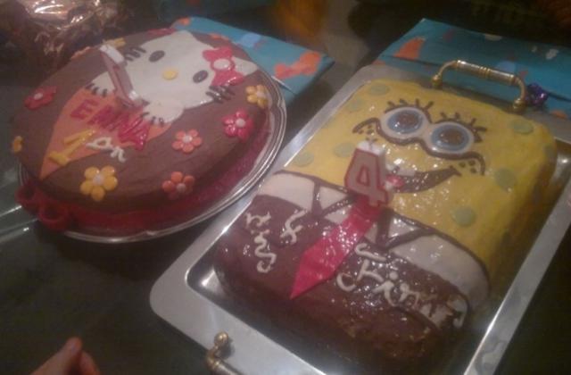 Gâteau Bob l'Eponge maison - Photo par carocaro