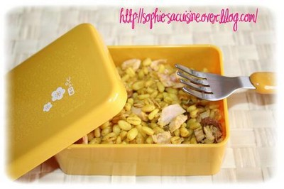 Salade exotique de blé au curry - Photo par sophieleb
