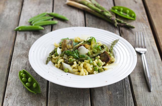 Salade de coquillettes bio toute verte - Photo par Silvia Santucci