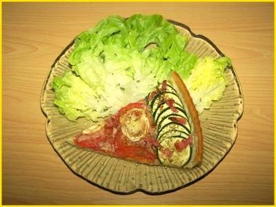 Tarte aux courgettes, tomates, lardons et chèvre - Photo par Titeratatouille