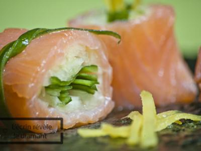 Makis saumon concombre (Kappa) - Photo par Sophie-Diamant