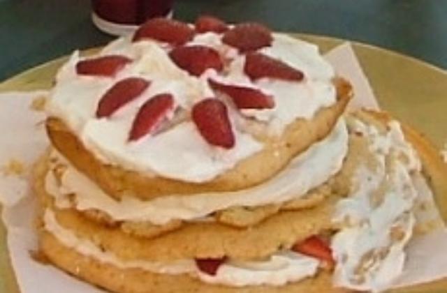 Gâteau d'antan aux fraises - Photo par capali