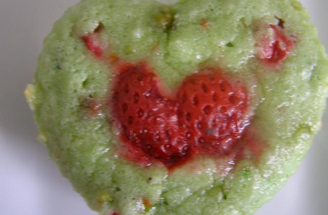 Financier fraise-pistache - Photo par witchd