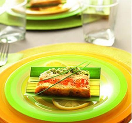 Terrine de saumon aux petits légumes - Photo par Luminarc