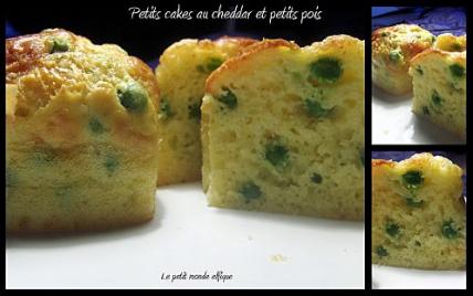 Petits cakes au cheddar et aux petits pois - Photo par robmarx