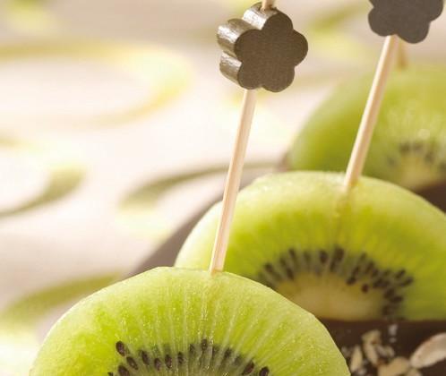 Sucettes de kiwi de l'adour au chocolat IGP - Photo par AOP IGP
