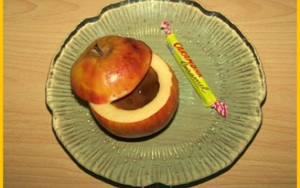 Pommes surprises aux Carambars maison - Photo par biscottine
